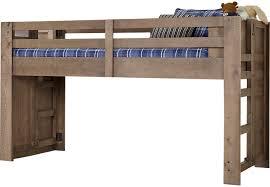 Kid Loft Beds Montana Driftwood Twin Jr Loft Bed Bunk Loft Beds Light Wood