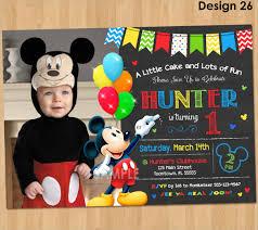 Mickey Mouse 1st Birthday Card Birthday Invites Captivating Mickey Mouse 1st Birthday