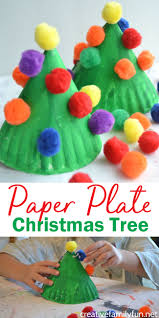 paper plate christmas tree kids craft creative family fun