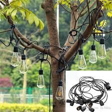 outdoor sockets for christmas lights led globe outdoor string christmas lights 48ft warm white commercial