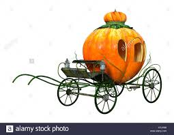 pumpkin carriage 3d rendering of a cinderella pumpkin carriage isolated on white
