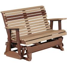 Luxcraft Porch Rocker Amish Yard Luxcraft Rollback 4ft Recycled Plastic Glider Bench Rocking