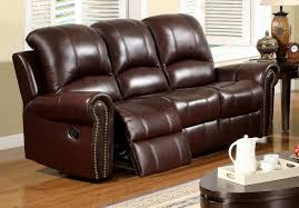 Two Tone Reclining Sofa Living Room Leather Reclining Sofa And Reclining Loveseat In Two