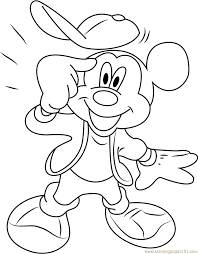 mickey mouse thinking coloring page free mickey mouse coloring