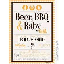 beer bbq baby talk kateogroup baby shower invitation