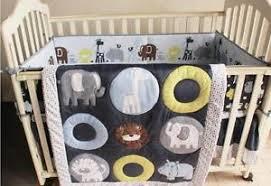 Crib Bedding Animals New 7 Baby Bedding Set Animals Zoo Nursery Quilt Bumper