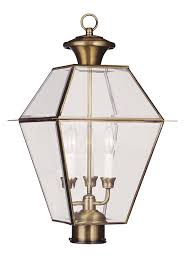 Antique Outdoor Lights by Amazon Com Livex Lighting 2384 04 Westover 3 Light Outdoor Black