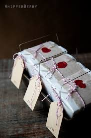 wrapping gift boxes the burlap and wax st perhaps to wrap fudge at