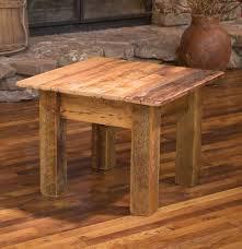 reclaimed wood end table furniture reclaimed teak wood jigsaw end table plans diy round