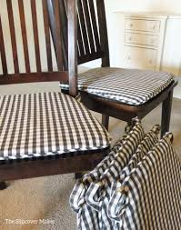 chairs dining chair seat covers gingham room slipcovers the
