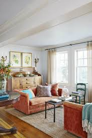 Orange Livingroom by Tis Autumn Living Room Fall Decor Ideas