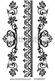 set ornamental borders vector illustration stock vector 245965297
