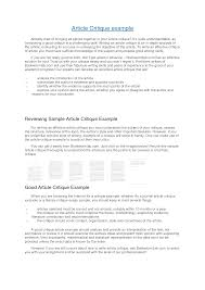 Style Analysis Essay Example Quantitative Research Article Critique Nursing