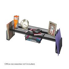 Black Wire Mesh Desk Accessories by Onyx Mesh Off Surface Shelf Safco Products