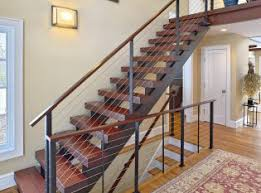 floating staircase and cable railing katonah ny
