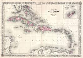Blank Caribbean Map by File 1864 Johnson Map Of The West Indies And Caribbean
