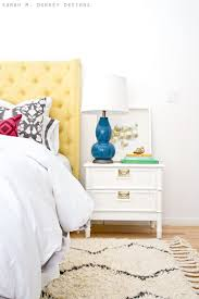 sarah m dorsey designs faux bamboo nightstand before after