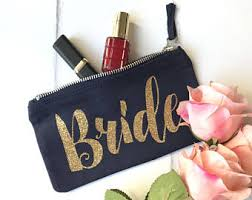 bridal makeup bags gift for etsy