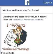 Traditional Marriage Meme - what sort of community bans traditional marriage video
