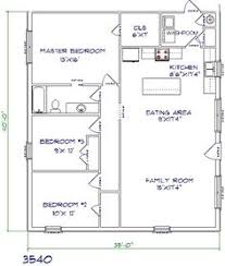 Floor Plans For Small Houses With 3 Bedrooms Floor Plan For Affordable 1 100 Sf House With 3 Bedrooms And 2