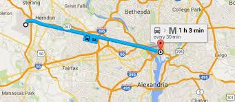 washington dc metrobus map dulles iad airport service to downtown washington