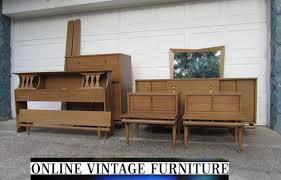 vintage mid century modern bedroom furniture rare 1950s bedroom set kent coffey sequence dresser credenza