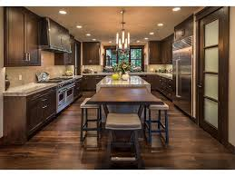 50s bungalow gray white kitchen walnut cabinets apron sink farm la