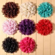wholesale hair accessories chiffon flower fabric flower hair flower diy craft diy flowers