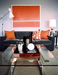 bedroom pleasant orange contemporary living room grey and brown