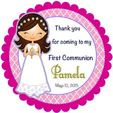 labels for party favors 40 labels 2 personalized girl communion