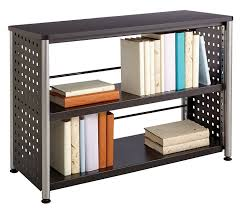 sauder 2 shelf bookcase amazon com safco products 1601bl scoot bookcase with 2 shelves