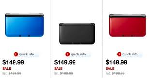 3ds xl black friday target nintendo 3ds xl console blue red or black only 149 99