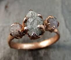 hippie wedding ring pink diamond gold engagement ring wedding ring custom one