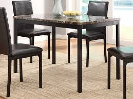 48 Dining Table by Homelegance Tempe Dining Table Black Dark Brown Faux Marble