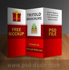 photoshop brochure templates tri fold brochure psd free template