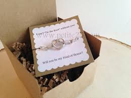 wedding invitations the knot bridesmaid invitation one 1 tie the knot heart bracelet