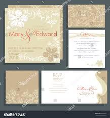 Wedding Invitations With Menu Cards Set Wedding Cards Announcement Rsvp Menu Stock Vector 484729429