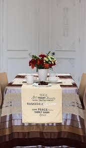 Islamic Home Decor Ramadan Eid Mubarak 60 In Reversible Table Runner Islamic Home