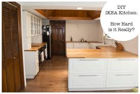 Do Ikea Kitchen Doors Fit Other Cabinets Diy Ikea Kitchen How Hard Is It Really On House And Home