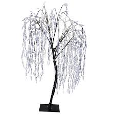outdoor decor 6 5 pre lit led willow tree