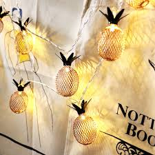 christmas garland battery operated led lights aliexpress com buy 10led 6 5cm fairy metal pineapple battery