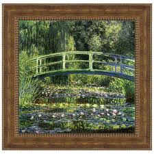bridge over a pond of water lilies 1899 by claude monet framed