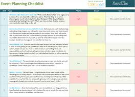 Event Planning Checklist Template Excel Event Planning Checklist To Keep Your Event On Track