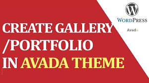 avada theme portfolio order how to create gallery portfolio with help of avada theme youtube