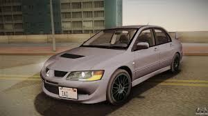 mitsubishi evo modded mitsubishi lancer evolution viii for gta san andreas