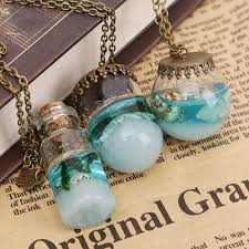 wish necklace images Ocean in a bottle wish necklace the fancy and dandy store jpg