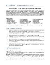 Human Resource Sample Resume by Cover Letter Management Development Program