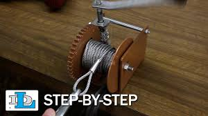installing cable on worm gear winches step by step youtube