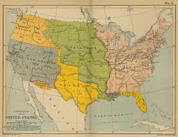 Unites States Map of the expansion of the united states 1783 1907