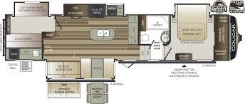 Keystone Cougar Fifth Wheel Floor Plans 2018 Keystone Cougar 369bhs Bunks